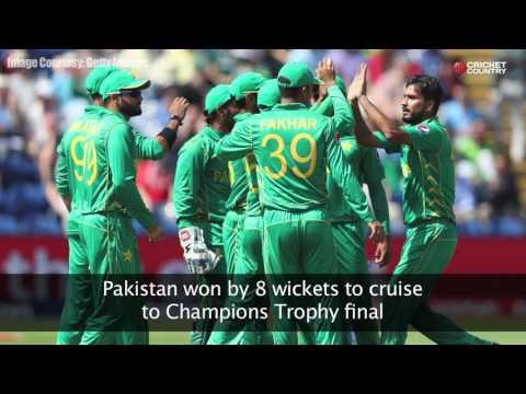 Pakistan vs England, semi final 1, ICC Champions Trophy 2017, video review