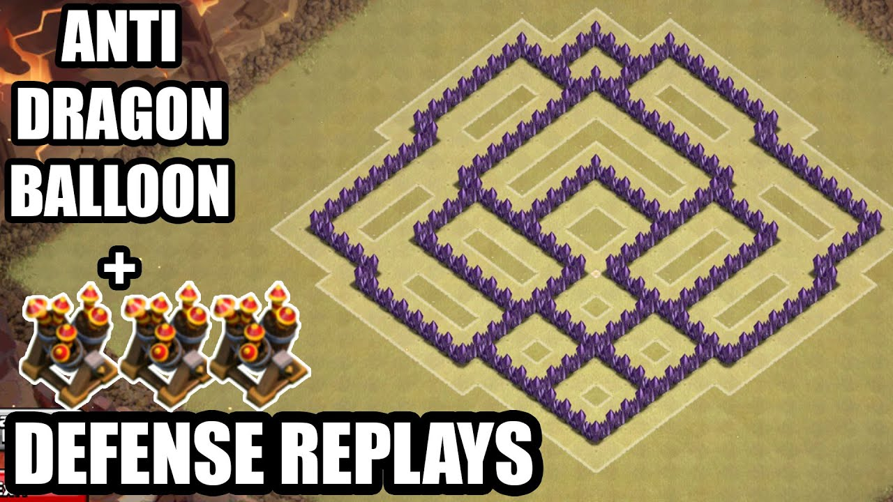 Best War Base Coc Th 7 Anti Dragon 9