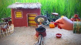 Miniature Aloo Kulcha naan + Chana Masala   Kulcha Recipe   Miniature Cooking #49   Mini Foodkey