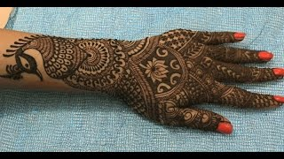 Indian Pakistani Wedding Henna Mehendi:Full Hands Bridal Artistic Peacock Mehndi(Intricate Pattern)
