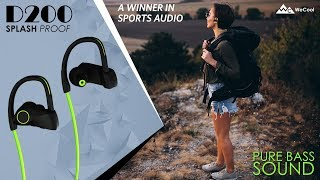 Wecool D200 : Wireless Bluetooth 4.1 HD Stereo Sound Sports Headphones with Mic Unboxing & Review
