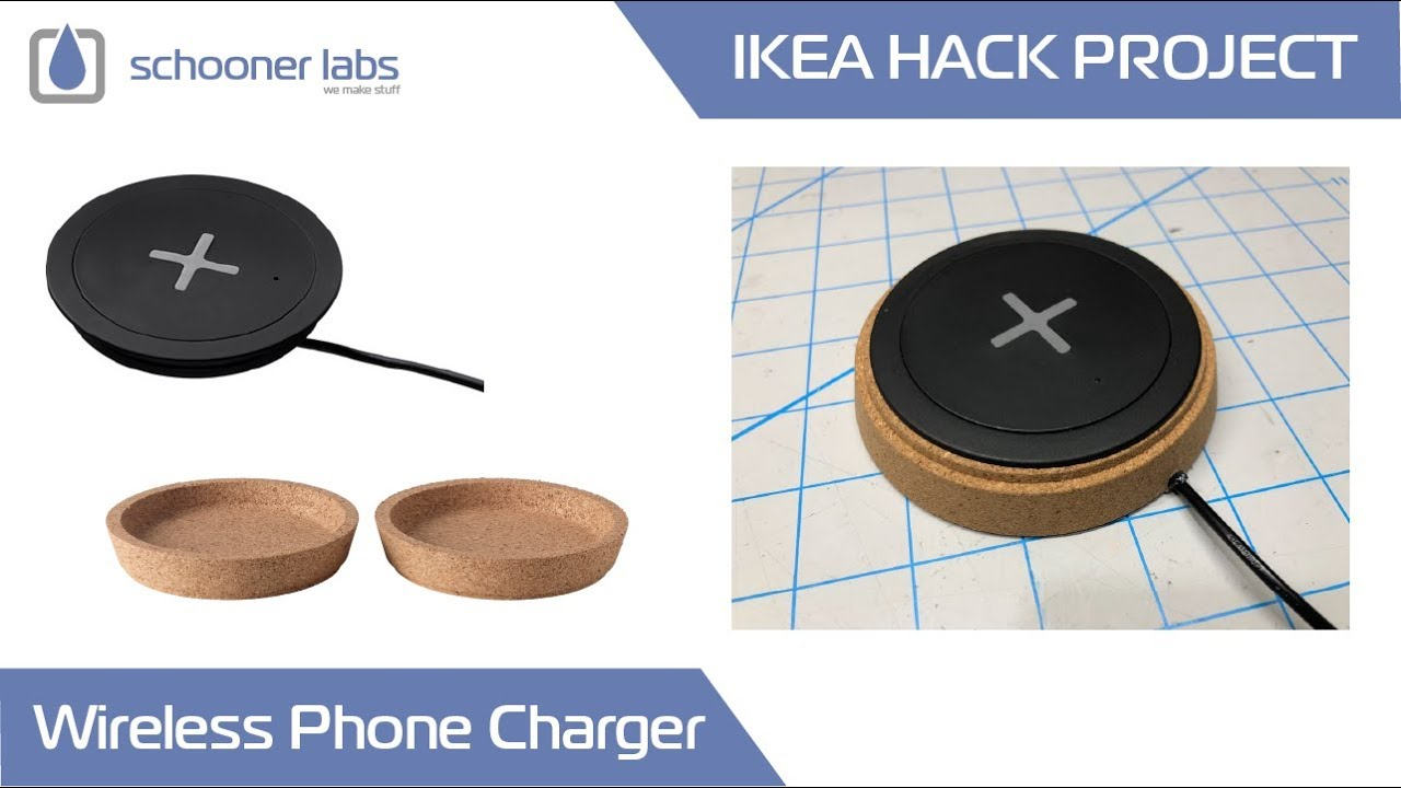 ikea hack wireless phone charging station youtube. Black Bedroom Furniture Sets. Home Design Ideas
