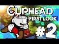 First Look: Cuphead Gameplay Walkthrough Part 2 w/Lec (1080p 60fps)