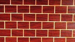 """A """"brick Wall"""" End Grain Cutting Board (Торцевая разделочная доска """"Кирпичная стена"""" )"""