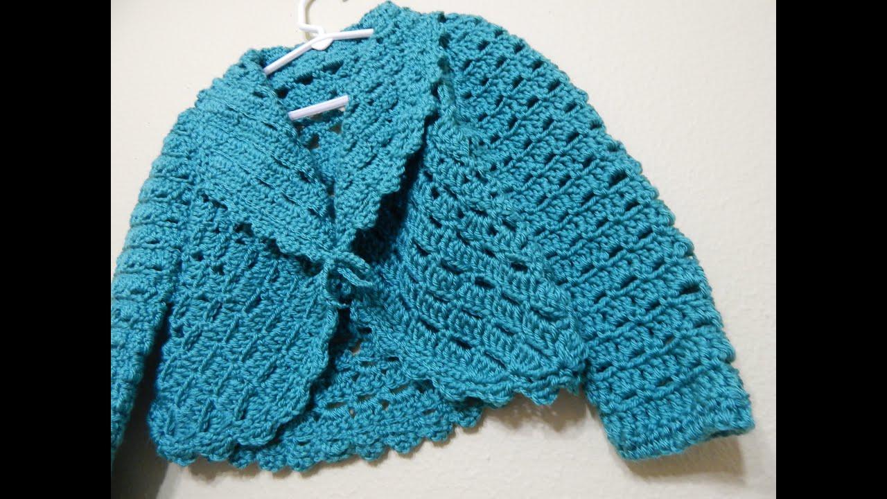 Bolero Crochet para Niña 3 a 5 años parte 1 de 2 - YouTube