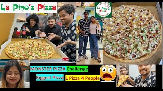 La Pino'z Monster Pizza Challenge | 4 People Easting Biggest Pizza | 25 Inch Pizza