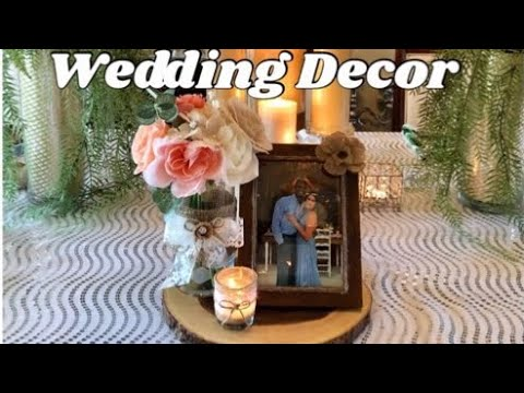 DIY Wedding Decorations: Affordable Rustic Wedding Decor Dollar Tree DIY Centerpiece 2019