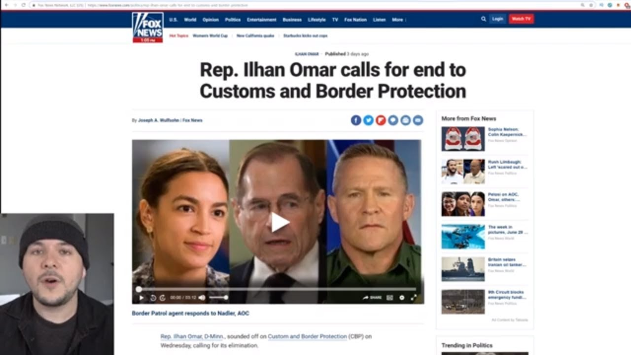 Ilhan Omar Calls For Eliminating Customs And Border Protection