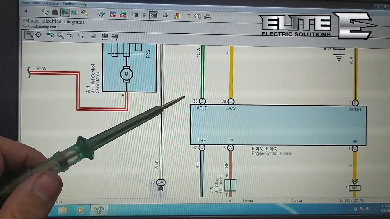 Toyota Corolla 2007 Ac wiring diagram EFi auto electrician training in Urdu  session 81 - YouTube | 2007 Toyota Wiring Diagrams |  | YouTube