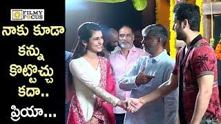 Nithin New Movie Launch    Priya Prakash Varrier - Filmyfocus.com