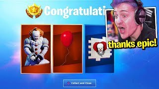 "Streamers React to *FREE* ""PENNYWISE"" ITEMS! *Claim Now* (Fortnite)"