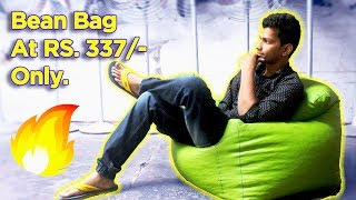 How? Bean Bag At Rs.337 | Unboxing | Review | Usage | Refill | Filling  | Dekh Review (Hindi/Urdu)