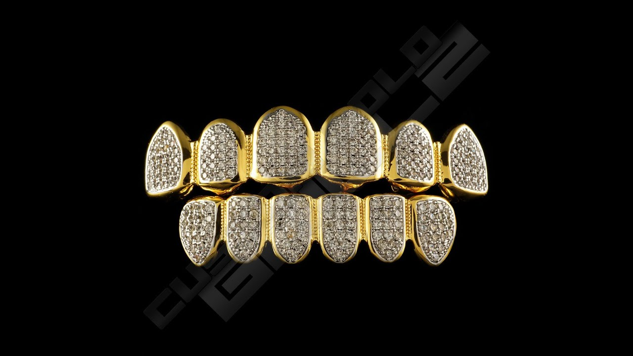 Custom Gold Grillz Iced Out Diamond Teeth Grillz Youtube