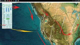 12/11/2017 -- West Coast California -- Multiple volcanoes erupting offshore? -- Full video