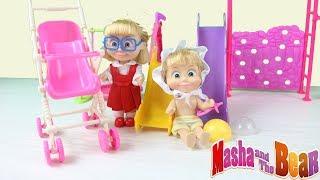Maşa Oyuncakları Barbie İle Birlikte Bilgili Masha Bebek Bakıcısı Çizgi Film Tadında