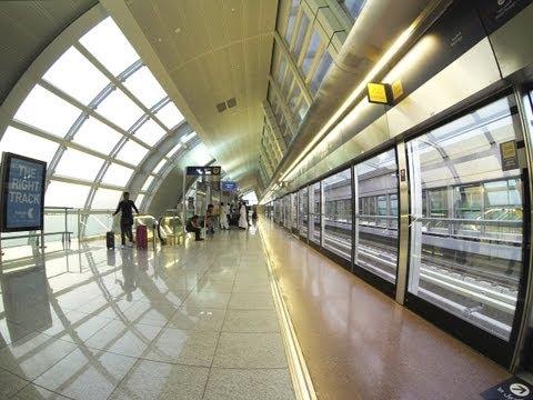 Dubai Metro : Airport Terminal 1 to GGICO (720p)