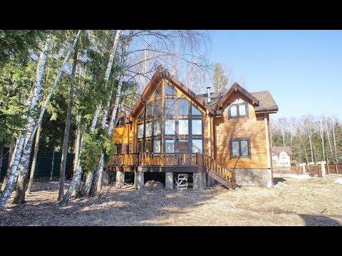 Дом из красноярского кедра на лесном участке в легендарном поселке Глаголево Парк на Киевском шоссе