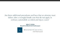 Are there additional procedures and laws that an attorney must follow after a...