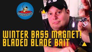 Wintertime Bass Fishing Bladed Blade Bait Fishing Lure