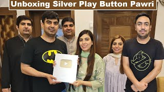 Surprised Amna With Unboxing *YouTube Silver Play Button* Party l Life With Umair