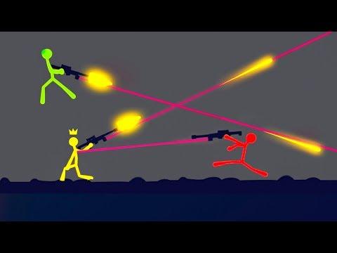 EXTREME SNIPER RIFLE STICK FIGHT! (Stick Fight #3)