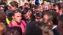 Un cheminot met la misère à Macron ce midi à Saint-Dié-des-Vosges!