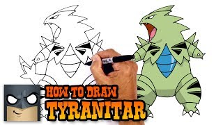 How to Draw Tyranitar | Pokemon