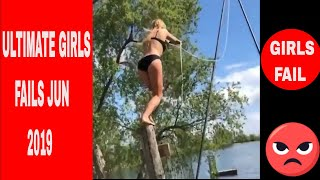 Try Not To Laugh Girls Ultimate Funny Fails Compilation - FailArmy Jun 2019
