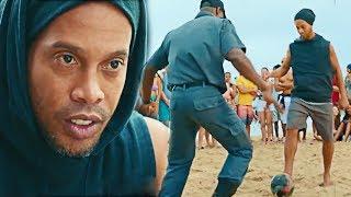 Ronaldinho ZIEHT POLIZISTEN in FUßBALL ab!