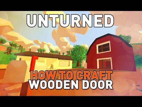 Unturned how to craft wooden door tutorial youtube for Door unturned