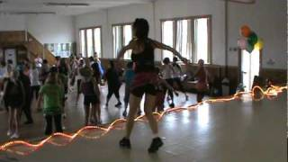 Zumba!!!  Gimme Gimme Gimme by Beenie Man.   Zumba Party Oct 2 2010 with Jennifer Furrer .mpg