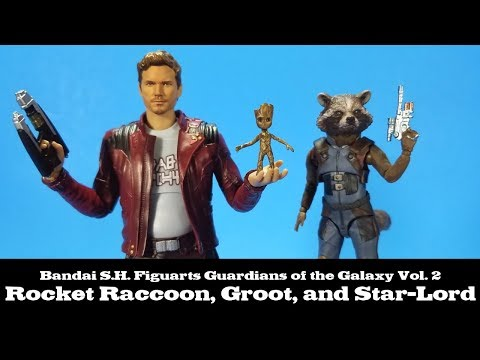 S.H.Figuarts SHF Guardians of the Galaxy Rocket Raccoon Groot Figure New In Box