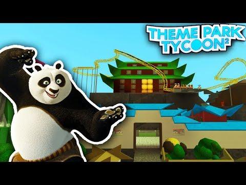 KUNG FU PANDA in Theme Park Tycoon 2!!  Roblox