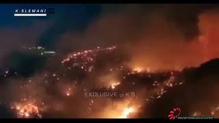 Lebanon wild fire 15.10.2019 حرائق لبنان وخروجها عن السيطرة وانهيار مراسلة قناة الجديد وبكائها عالجو