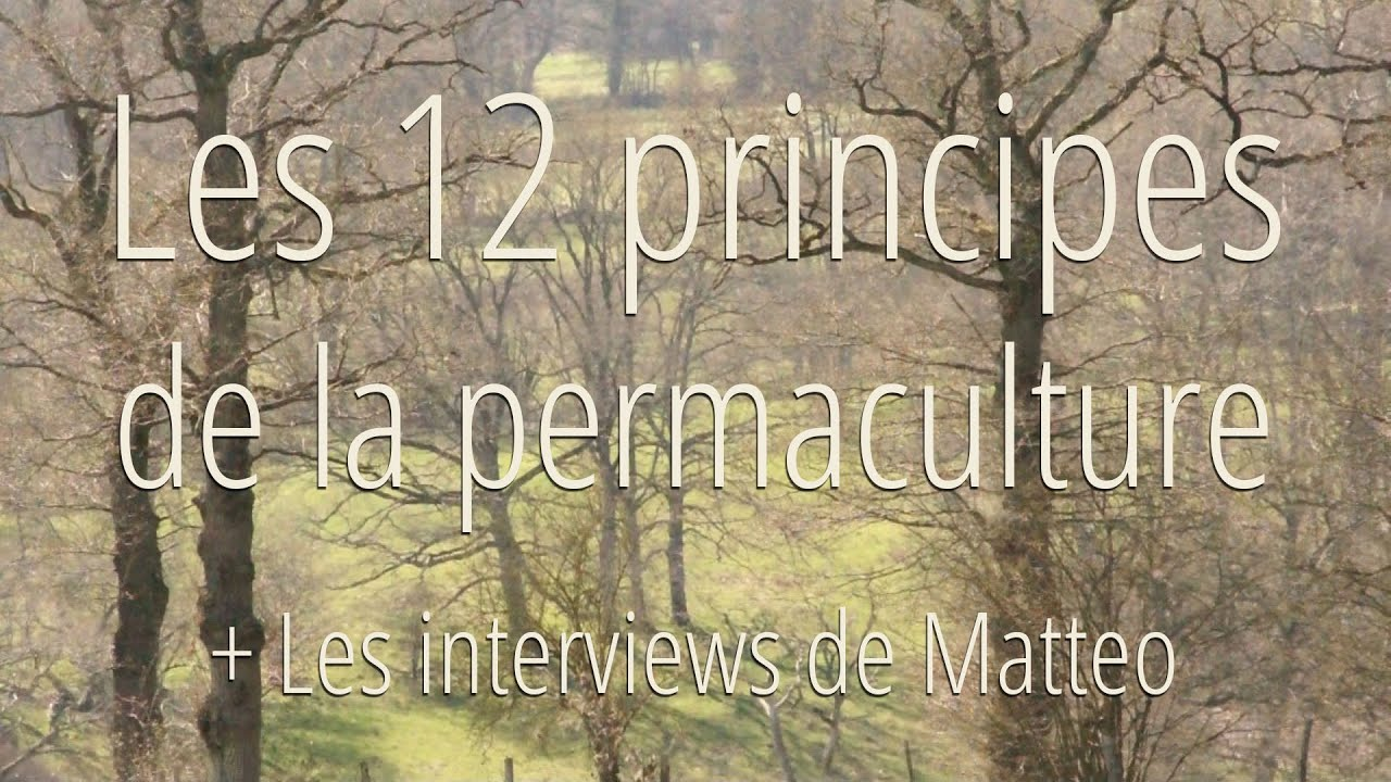 les 12 principes de la permaculture et interviews youtube. Black Bedroom Furniture Sets. Home Design Ideas