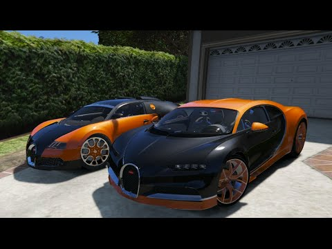 gta v bugatti chiron vs bugatti veyron gta 5 mod youtube. Black Bedroom Furniture Sets. Home Design Ideas