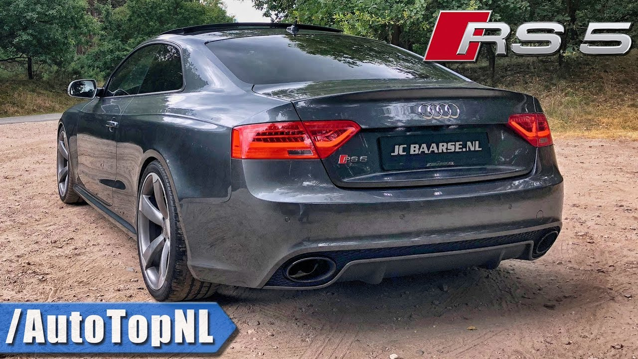 audi rs5 4 2 fsi v8 very loud mtm exhaust sound onboard revs tunnel by autotopnl