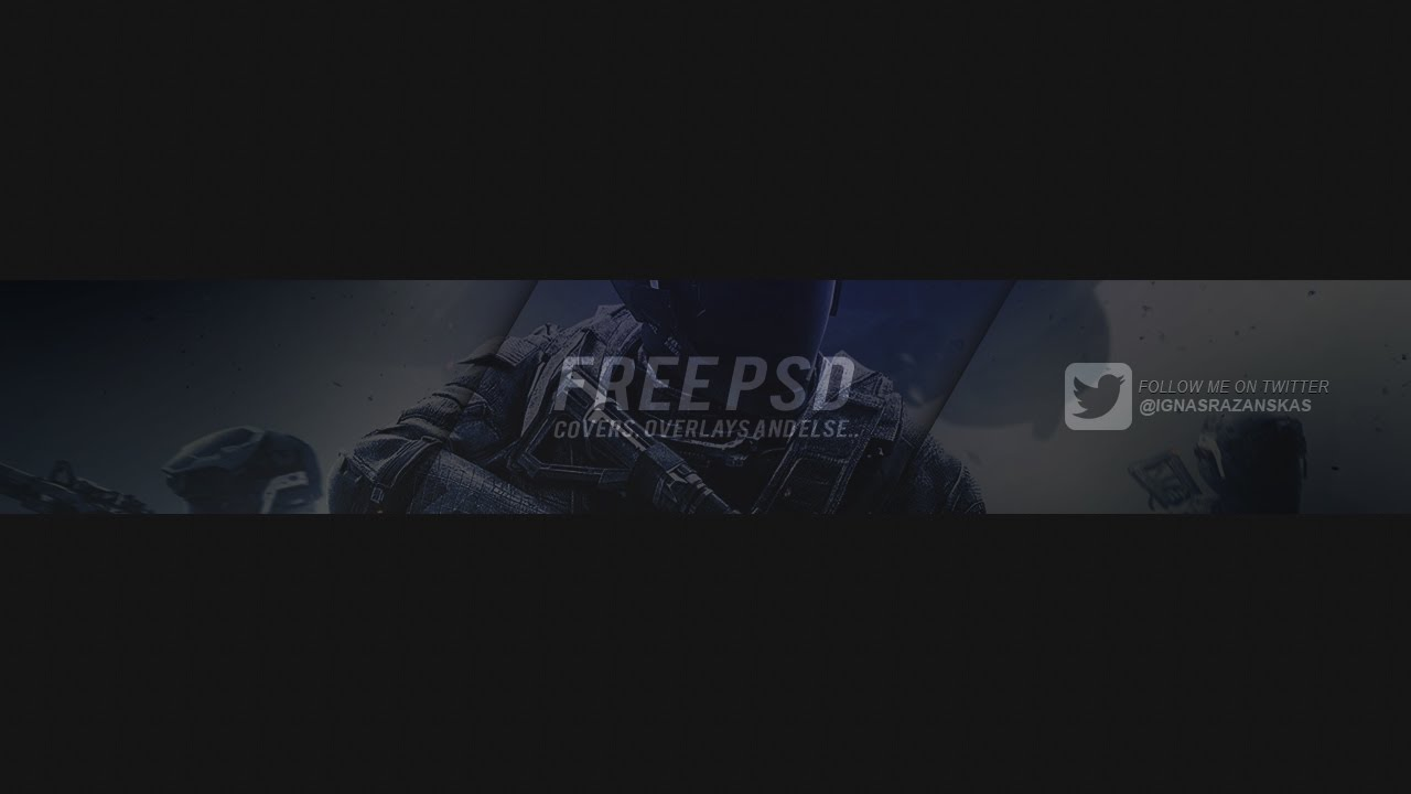 Free Youtube Cover Template Blue Cod Psd Free Download Youtube