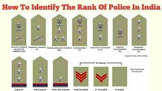 Identify the rank of police in India by their badges/भारतीय पुलिस अधिकारियों की रैंक एवं उनके बैज स