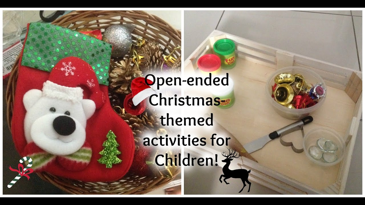 2 simple easy christmas activities for children open ended - Children Christmas Pictures 2