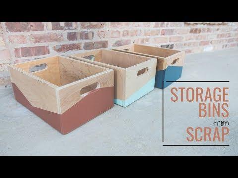 Make These Easy DIY Storage Bins // Organization, Woodworking Project