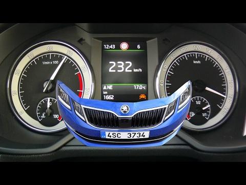 Skoda Octavia Combi 1,8 TSI 4x4 2017 facelift - acceleration 0-230 km/h