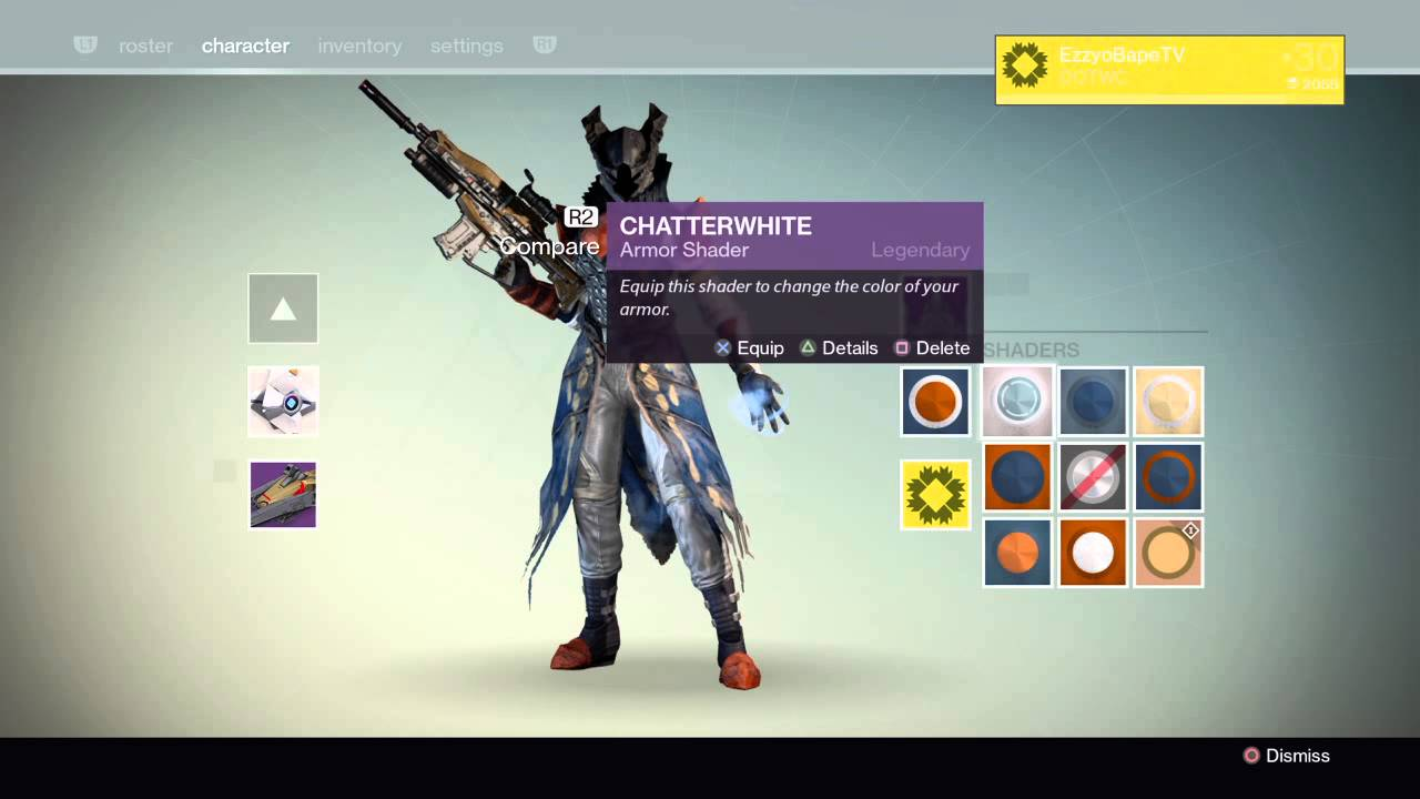 Destiny all crotas warlock raid armor with 9 different shaders
