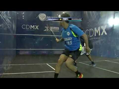 Mohamed Elshorbagy vs Miguel Ángel Rodríguez, Juego 3 de Copa Sin Límites de Squash