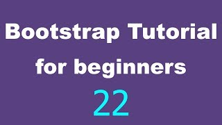 bootstrap Tutorial for Beginners - 22 - Collapse navbar