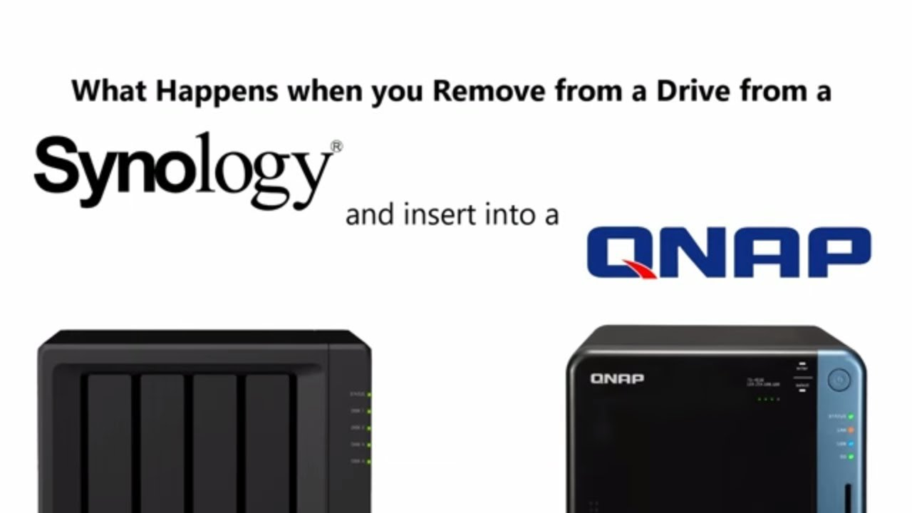 What Happens When you Remove a Synology HDD and put it in a QNAP NAS?