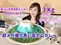 【大食い】超メガ盛り青い富士山カレー【三宅智子】