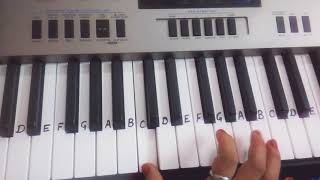 Lag Ja gale | Keyboard tutorial|piano|Harmonium|Easy notes|slow tutorial for beginners.mp3