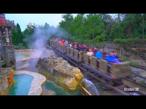 [HD] The Grizzly Mountain Runaway Mine Cars Coaster Ride - Hong Kong Disneyland 2016