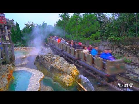 [HD] The Grizzly Mountain Runaway Mine Cars Coaster Ride - Hong Kong Disneyland 2016